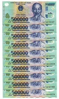 Vietnam 5 Millions De Monnaie Dong = 10 X 500 000 500000 Billets De Banque À Propos De L'unc
