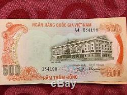 Vietnam Du Sud 500 Dong Nd (1972) Tigre Viet Nam Billet De Banque En Monnaie Unc Unc