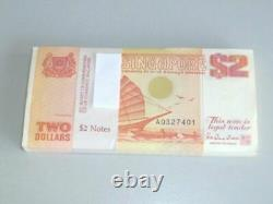 Vintage! 96 Pcs. Bundle Singapore $2 Sailboat Ship Unc Currency Money Banknote