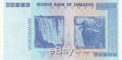 Zimbabwe 100 Billions De Dollars, Série Aa / 2008, P-91, Unc, Monnaie De Billet