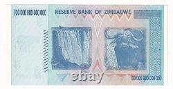 Zimbabwe 100 Trillions De Dollars Série 2008 Aa P-91 Devise Initiale Des Billets Unc
