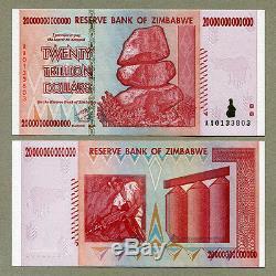 Zimbabwe: 20 Billions De Dollars X 25 Pièces Aa 2008 P89 Factures De Change Unc Consécutives