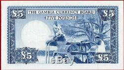 (com) Gambie Monnaie Conseil D'administration 5 Pounds E 1965-1970 Exécutions A P 3 Unc Parfait