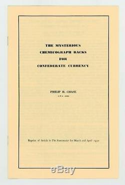 (ensemble Complet) Chemicograph Backs C. Destiné À S. A. Monnaie Avec Enveloppe Ua / Unc